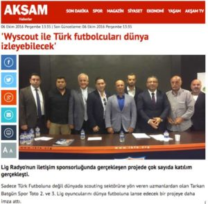 Wyscout watch on Turkish players in lower leagues