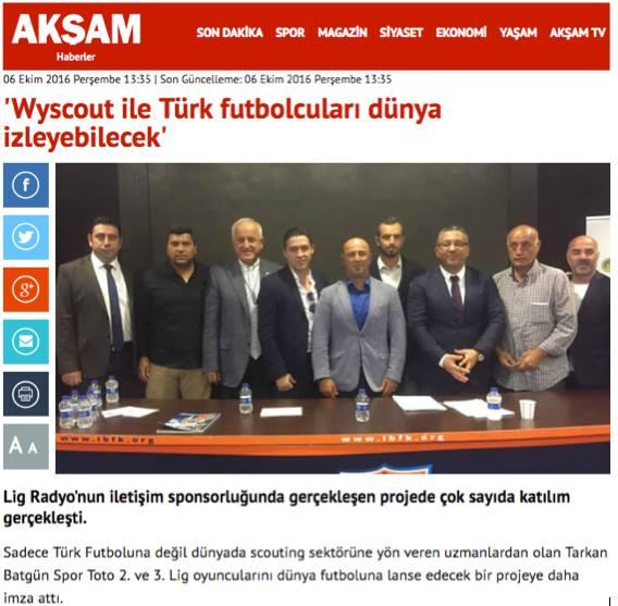 Wyscout İle Türk Futbolcuları Dünya İzleyebilecek